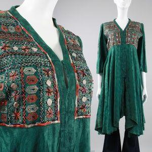 L/XL Vintage 70s Ethnic Boho Tunic Top 🐲 $ firm